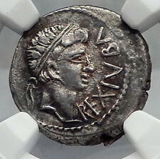 JUBA II & Mark Antony Daughter CLEOPATRA SELENE Silver Greek Coin NGC i60101