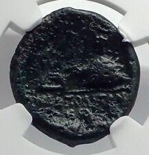Neapolis in Campania 250BC Apollo Caduceus Lyre  Omphalos Greek Coin NGC i77332