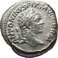 CARACALLA with branch 214AD Rome Silver Authentic  Ancient Roman Coin  i73387