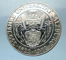 1972 Austria 350 Years University of Salzburg Silver 50 Schilling Coin i68509