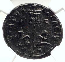 LICINIUS II Jr Authentic Ancient 320AD Genuine Roman Coin w CAPTIVES NGC i76307