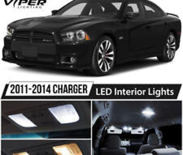 2011 2014 Dodge Charger White Led Interior Lights Package Kit