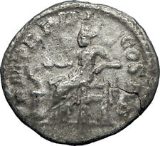SEVERUS ALEXANDER 223AD Rome Authentic Ancient Silver Roman Coin Salus i69855