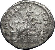 SEVERUS ALEXANDER 223AD Rome Authentic Ancient Silver Roman Coin Salus i69855