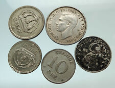 GROUP LOT of 5 Old SILVER Europe or Other WORLD Coins for your COLLECTION i75689