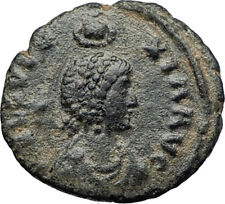 EUDOXIA Arcadius Wife 400AD Authentic Ancient Roman Coin HAND OF GOD i70718