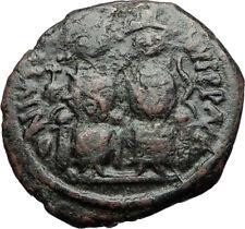 JUSTIN II &  Sophia 565AD Nicomedia Follis Genuine Ancient Byzantine Coin i71234