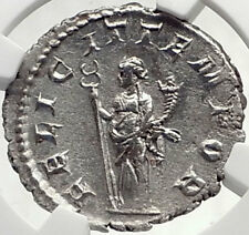 GORDIAN III Authentic Ancient Silver 244AD Roman Coin Rome FELICITAS NGC i70152