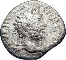 SEPTIMIUS SEVERUS Sacrificing  200AD Rome Silver Ancient Roman Coin  i73273