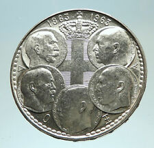1963 GREECE w PAUL GEORGE I &II ALEXANDER CONSTANTINE Antique Silver Coin i76826
