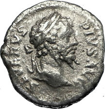 SEPTIMIUS SEVERUS 203AD Silver Authentic  Ancient Roman Coin Fortuna  i67331