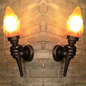 torch sconce in wall lighting fixtures