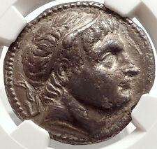 DEMETRIOS I Poliorketes Ancient 292BC Silver Greek Tetradrachm Coin NGC i66913