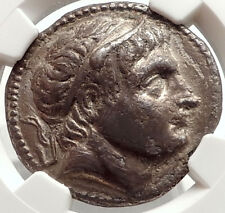 DEMETRIOS I Poliorketes Ancient 292BC Silver Greek Tetradrachm Coin NGC i66913