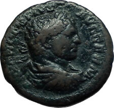 CARACALLA 215AD Rome Authentic Ancient Roman Coin ASCLEPIUS & TELESPHORUS i66494