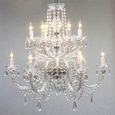 Chandelier Lighting Crystal Chandeliers H27 X W32 12 Lights