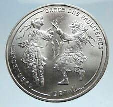 1997 PORTUGAL w Traditional Dance Genuine LARGE Silver 1000 Escudos Coin i75135