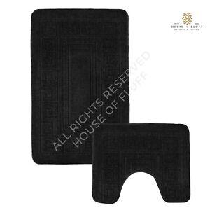 black bathroom set in bath mats for