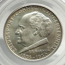 1936 BRIDGEPORT Commemorative US Silver Half Dollar Coin PCGS MS 65 i76431
