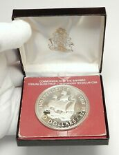 1973 The BAHAMAS Ship Santa Maria Genuine Proof Silver $10 Coin i76384