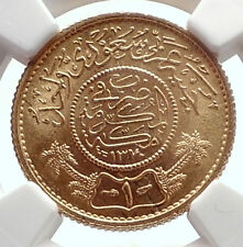1950 Saudi Arabia GOLD Trade Coinage COIN of Mecca NGC Certified MS 66 i70550