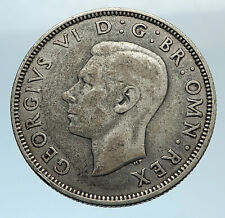 1937 United Kingdom Great Britain GEORGE VI Silver Florin 2Shillings Coin i74319