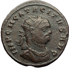 TACITUS Authentic Ancient Genuine Original 275AD Roman Coin MARS JUPITER i70727