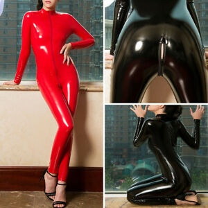 faux leather catsuits for women for