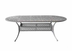oval aluminum patio garden tables for
