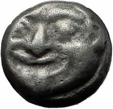 PARION in MYSIA 550BC Gorgoneion Medusa ARCHAIC Ancient Silver Greek Coin i60345