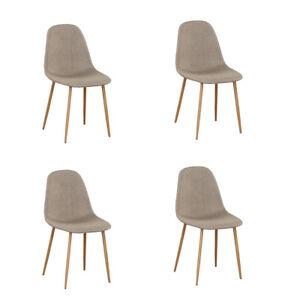chaises scandinave en metal pour la