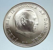 1968 DENMARK King Frederick IX Silver Princess ANNE MARIE WEDDING Coin i75149