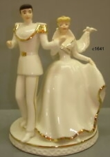 disney wedding cake  raquo  Disney Wedding Cake Toppers In Cinderella Figurines  1968 Now  for     Lenox Disney Wedding Cinderella   Prince Charming Cake Topper Magical  Moment New