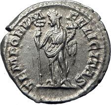 ELAGABALUS 219AD Authentic Genuine Ancient Silver Roman Coin Felicitas i70275