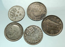 GROUP LOT of 5 Old SILVER Europe or Other WORLD Coins for your COLLECTION i75688
