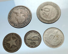 GROUP LOT of 5 Old SILVER Europe or Other WORLD Coins for your COLLECTION i74381