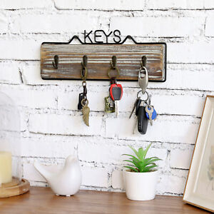 farmhouse wall mounted key hooks
