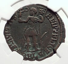 MAGNENTIUS w Chi-Rho Labarum Authentic Ancient 350AD Roman Coin NGC i72660