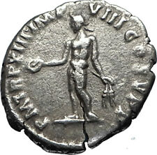 COMMODUS Authentic Ancient 187AD Genuine Silver Roman Coin w GENIUS  i67034