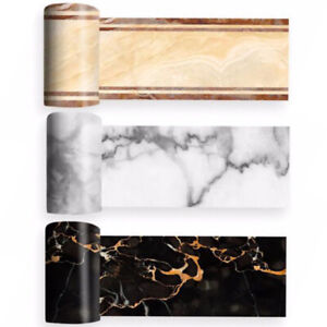 Blu, bianco, bianco, bordo decorativo per il bagno, il soggiorno, la cucina, 10 cm x 5 metri. Bordi Adesivi Muro Acquisti Online Su Ebay