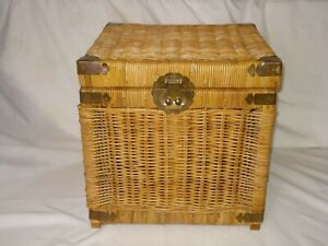 wicker trunks for sale in stock ebay