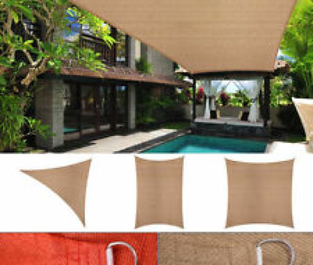 Sun Shade Sail Outdoor Patio Pool Lawn Rectangle Triangle Canopy Cover Uv Block