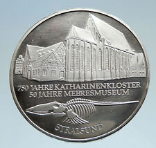2001 GERMANY Stralsund Naval Museum Genuine Silver German 10 Mark Coin i75139