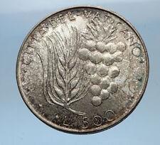 1974 VATICAN City POPE PAUL VI 0.29oz Silver 500 Lire Coin w Wheat Grapes i68966