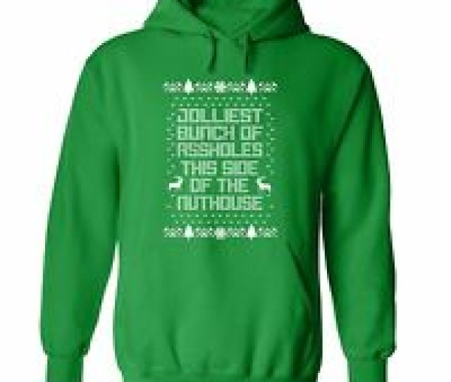 Jolliest Bunch Of Asholes Ugly Christmas Vacation Sweater Funny Movie Hoodie