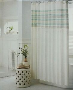 green striped shower curtains for sale