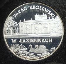 1995 POLAND Polish Palace Łazienki Genuine Silver Proof 20 Zlotych Coin i76310