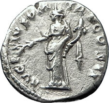 ANTONINUS PIUS 139AD Rome Authentic Ancient Silver Roman Coin PAX PEACE i70126