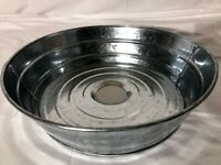 potting bench sink galvanized bucket