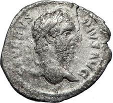 SEPTIMIUS SEVERUS 210AD Rome Authentic Ancient Silver Roman Coin SALUS i69958